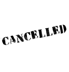 Cancelled rubber stamp vector