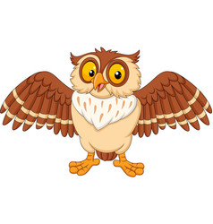 Cartoon happy owl isolated on white background vector