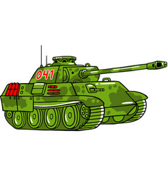 Cartoon tank isolated vector