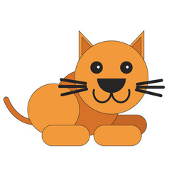 Cat in a flat style vector