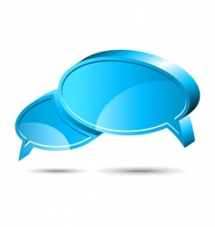 chat box blue vector image