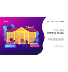 college campus concept landing page vector image