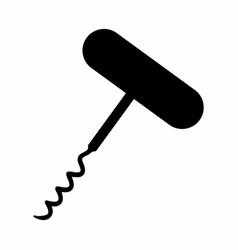 corkscrew dark silhouette vector image