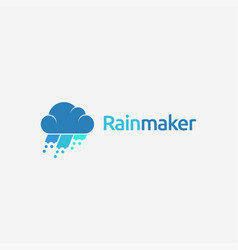 could and rain logo icon template vector image