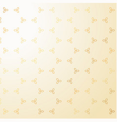 Cute golden small flowers decoration pattern vector