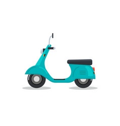 delivery motorbike logo icon scooter bike vector image