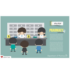 department of pharmacy pharmacists are vector image