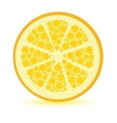 Dots lemon vector