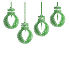 Drawing bulbs hanging environment design vector