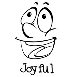 Expression wordcard for joyful vector