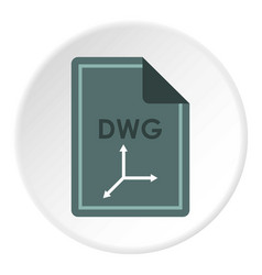 File dwg icon circle vector