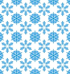 Flat style snowflakes seamless pattern vector