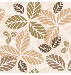 Floral seamless pattern with autumn leaves vector