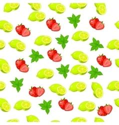 Fresh strawberryand slice vector