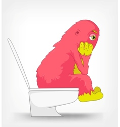 Funny monster wc vector