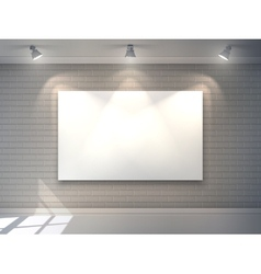 Gallery Interior Poster vector