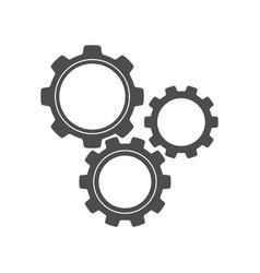 Gear silhouettes vector