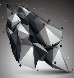 Geometric monochrome polygonal structure with vector