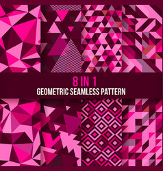 geometric seamless pattern background rose scheme vector image