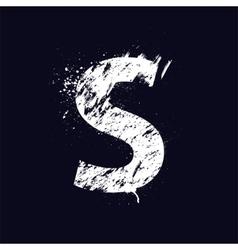 Grunge letter S vector