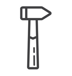 hammer line icon build and repair tool sign vector image