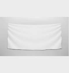 hanging clear white flag on wall template vector image