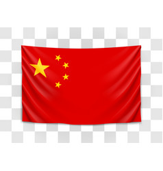 hanging flag china people republic china vector image