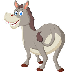 happy donkey cartoon vector image