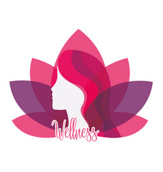 Healthy woman with wellness lifestyle nutrition vector