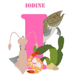 Iodine healthy nutrient rich food vector