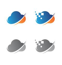 it cloud vector image