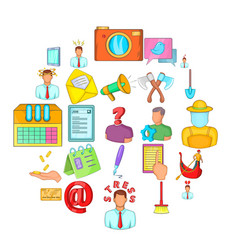 job vacancy icons set cartoon style vector image