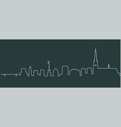 linz single line skyline vector image