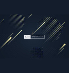 luxury dark black and gold premium background vector image