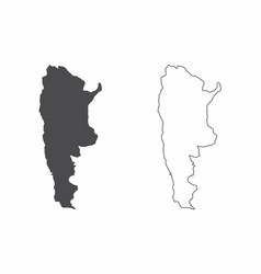 maps of argentina vector image