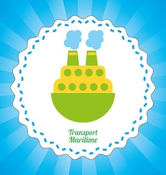 maritime transport design vector image