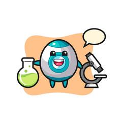 Mascot character rocket as a scientist vector