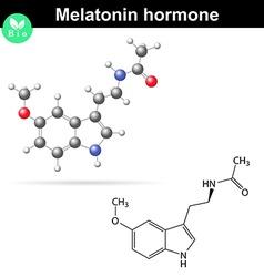 Melatonin hormone molecule vector