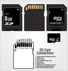Memory card sd vector