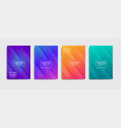 Minimal covers design colorful halftone vector