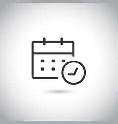 modern flat calendar clock icon vector image