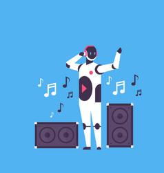 modern robot audio speakers bot character vector image