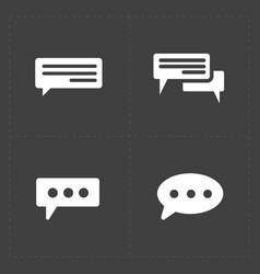 New speech bubble icons vector