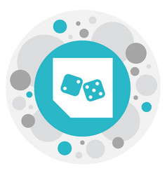 of game symbol on backgammon vector image