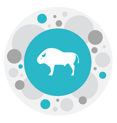 of zoo symbol on buffalo icon vector image