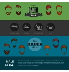 peoples heirsyle icon collection beards and vector image