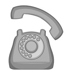 Phone icon gray monochrome style vector