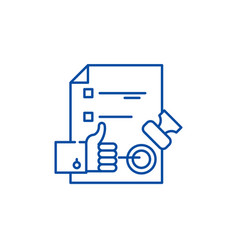 Quality control system line icon concept quality vector