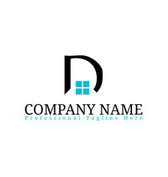 real estate initial letter d logo design template vector image