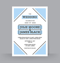 retro wedding invitation template tradition vector image